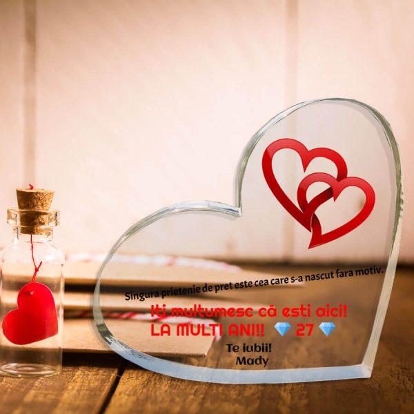 Trofee personalizate inima