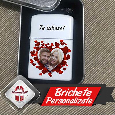Bricheta personalizata Zippo cu poza Valentine's Day